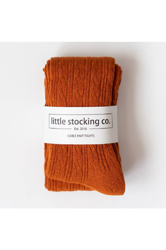 Little Stocking Co Pumpkin Spice Cable Knit Tight - Alternate List Image