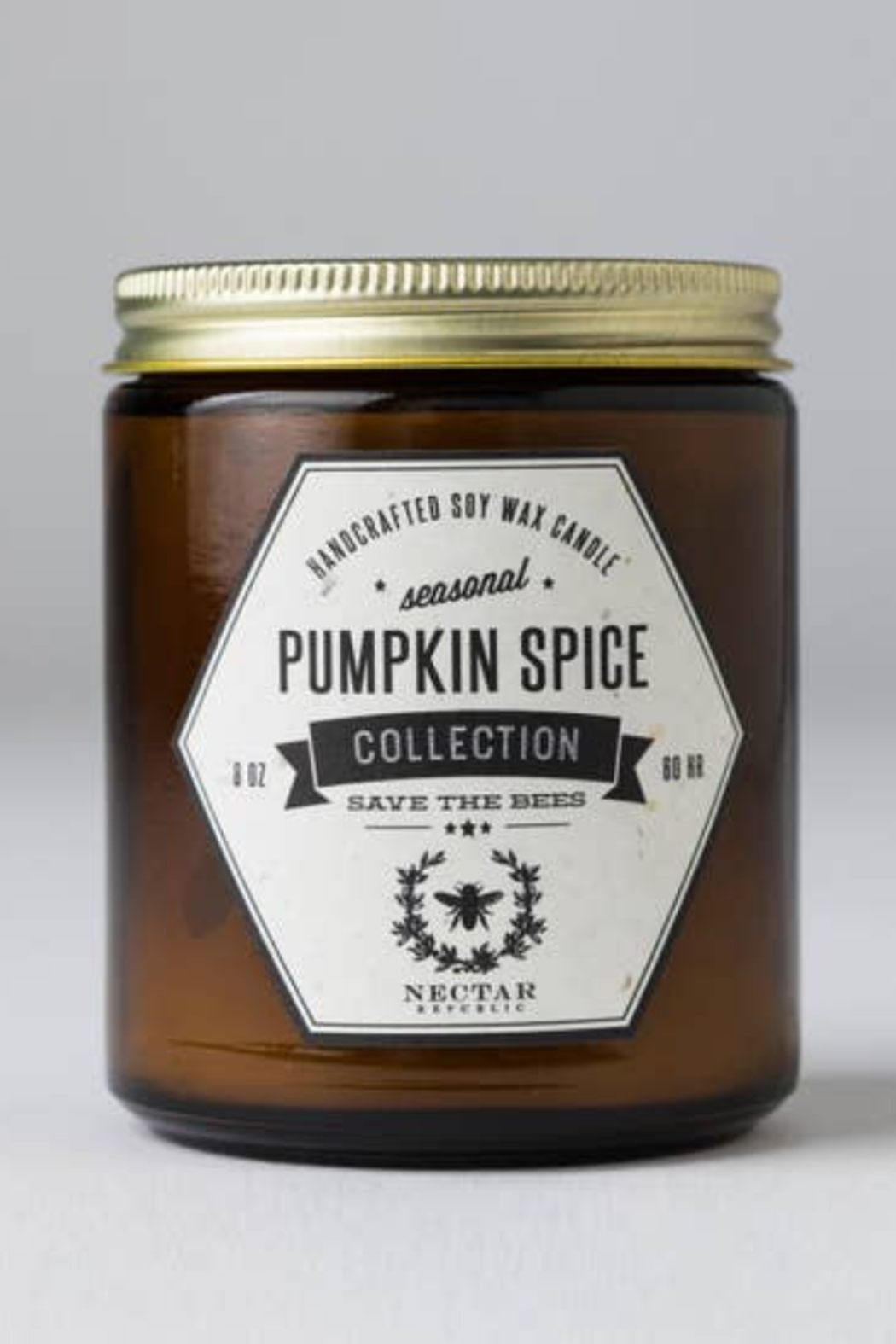 Nectar Republic Pumpkin Spice : Jar Candle - Front Cropped Image