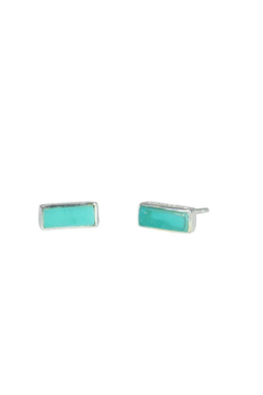 Shoptiques Product: Turquoise Post Earrings
