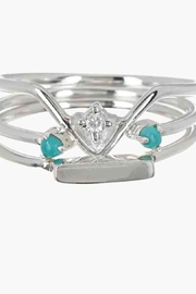 Pura Vida Gem Stacking Rings - Front cropped