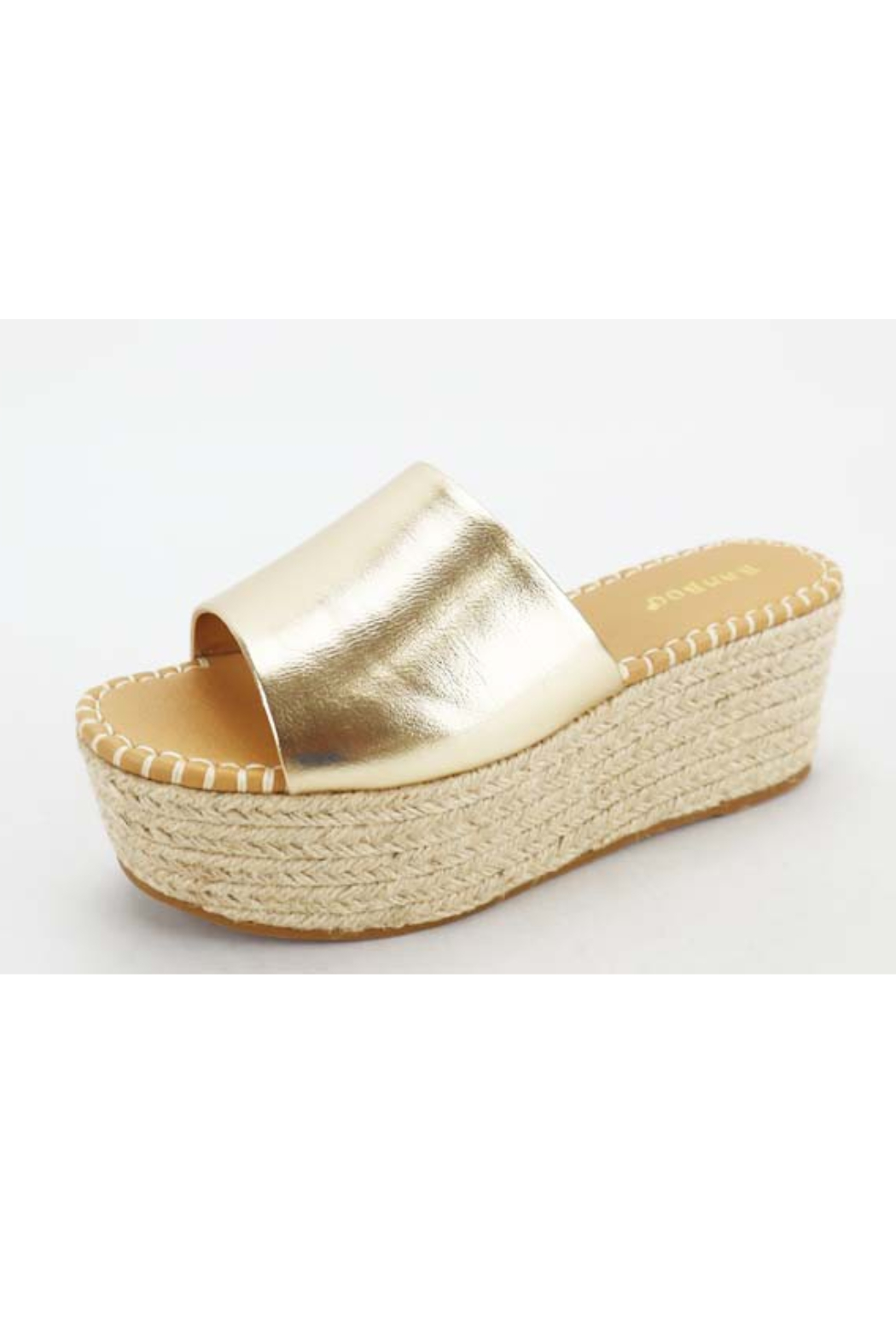 Bamboo Purchase-06 Wedge Sandal - Front Cropped Image