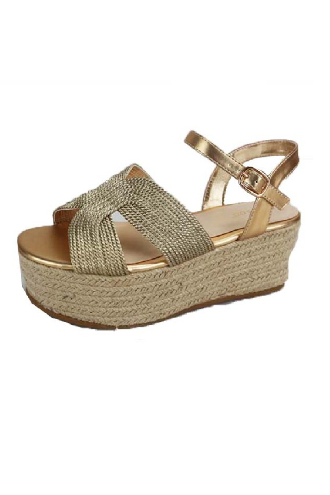 Bamboo Purchase-16 Flatform Wedge - Front Cropped Image