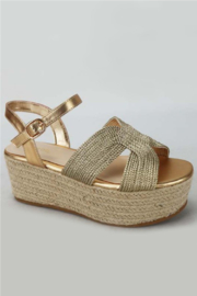 Bamboo Purchase-16 Flatform Wedge - Front full body