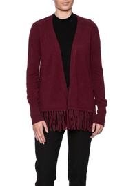 Pure Amici Cashmere Fringe Cardigan - Front cropped