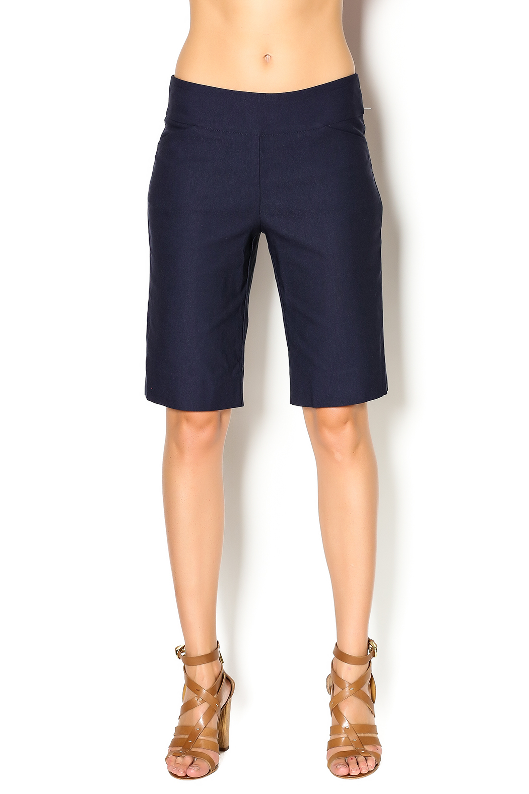 Pure Amici Stretch Bermuda Short - Front Cropped Image