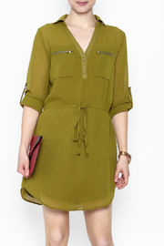 Pure Hype Green Tunic Dress - Product Mini Image