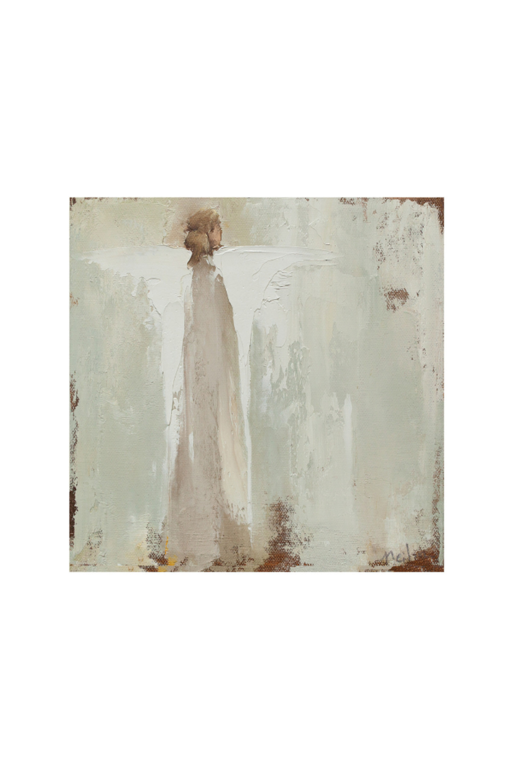 The Birds Nest PURE NOTECARDS WITH ANGELS - Front Full Image