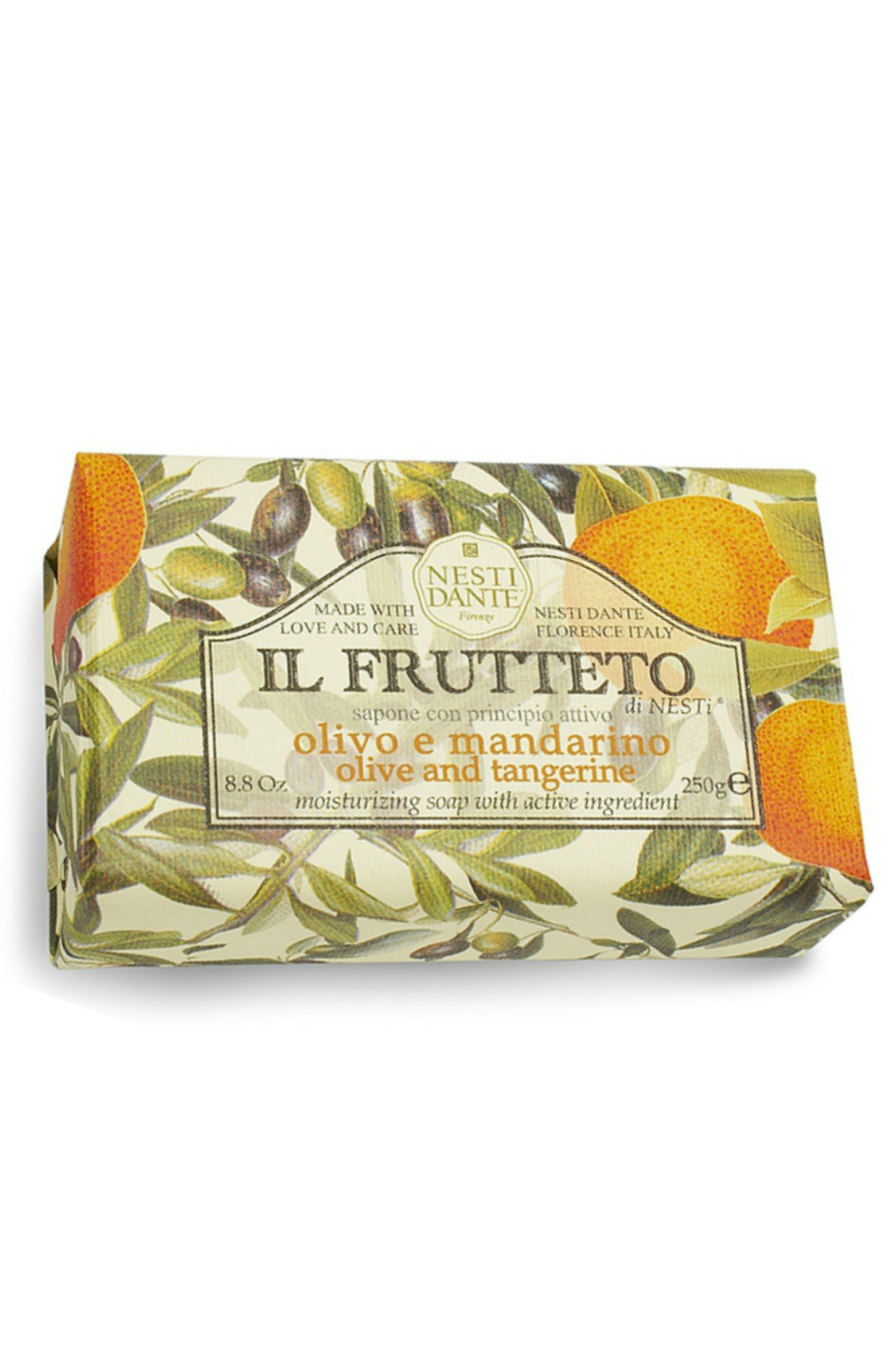 Nesti Dante PURE OLIVE OIL AND TANGERINE BAR SOAP - Front Cropped Image