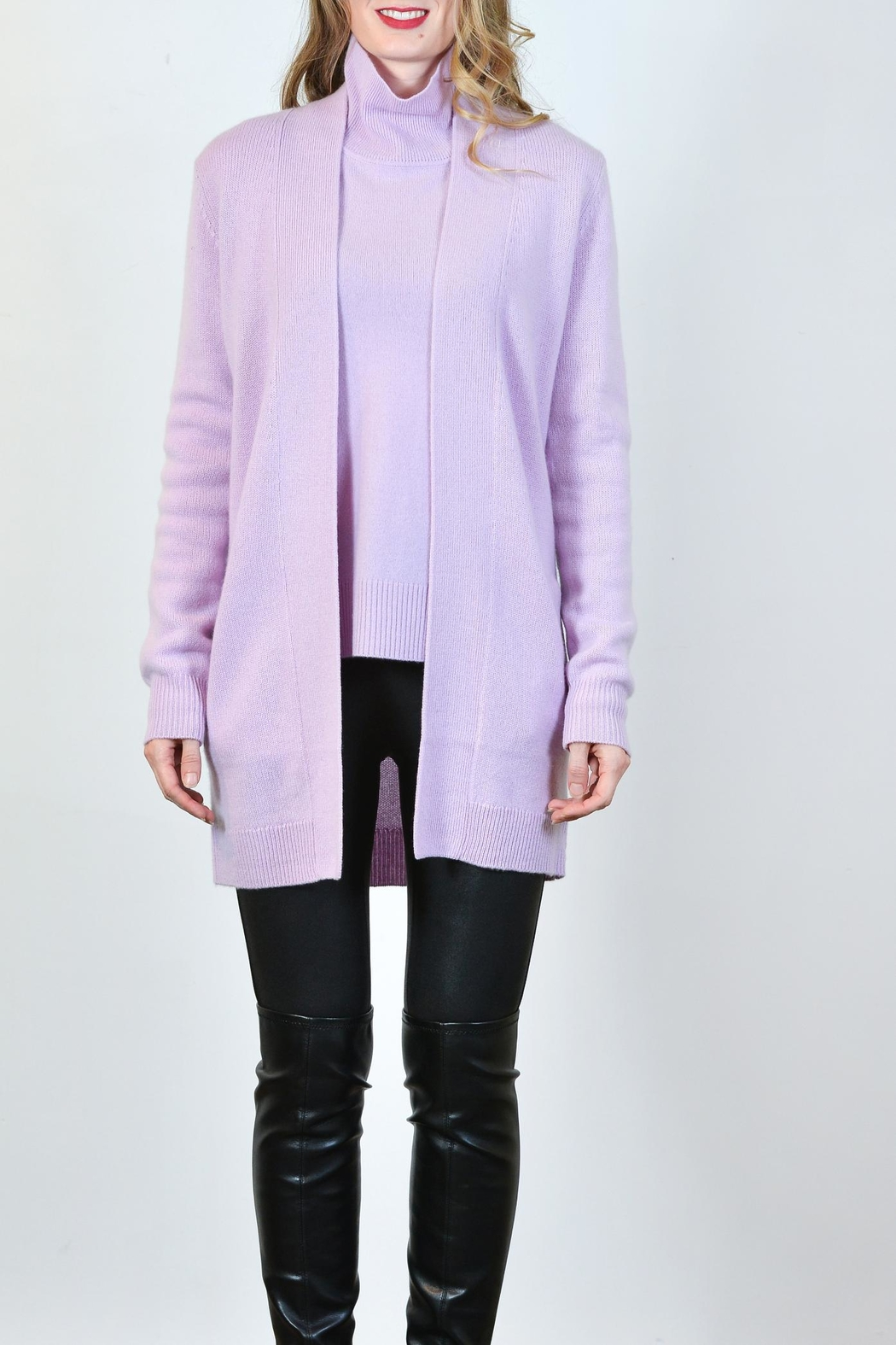 Pure Amici Cashmere Cardigan - Front Cropped Image