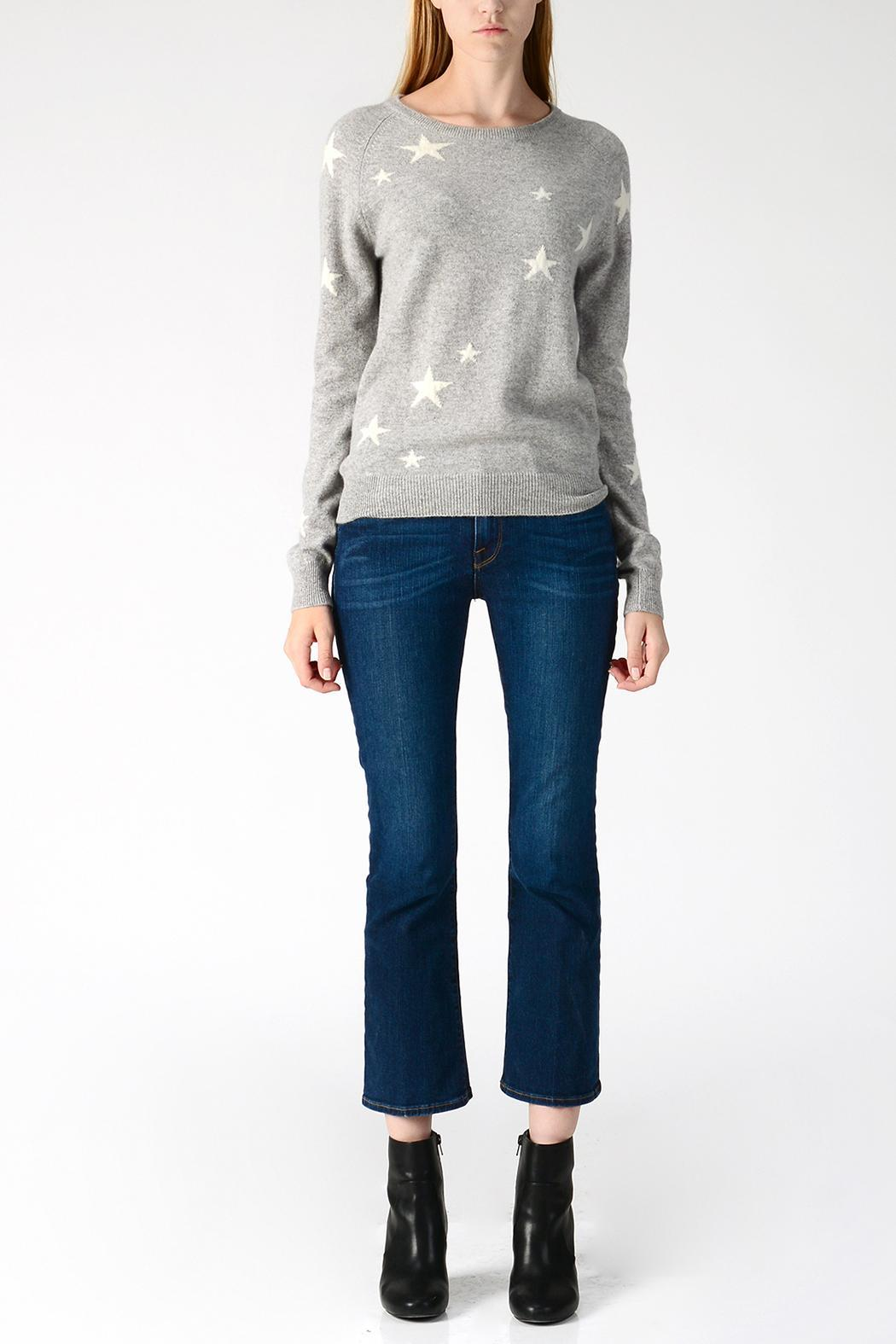 af6c747aa12 PURE CASHMERE Star Crewneck Sweater from New Jersey by Blancsom ...