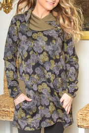 Pure Essence Collar Flowered Tunic - Product Mini Image