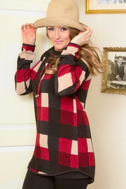 Pure Essence Plaid Cowl Tunic - Product Mini Image