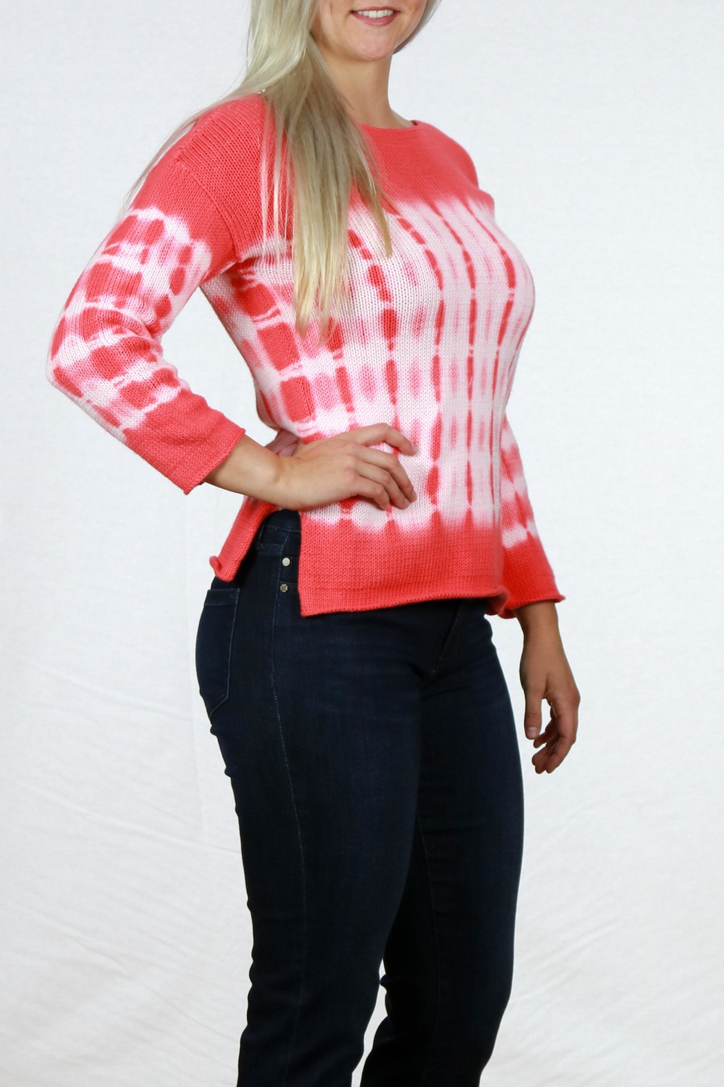 Pure Handknit Tie Dye Sweater - Front Full Image