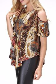 Pure Hype Mix Print Top - Front full body