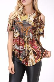 Pure Hype Mix Print Top - Front cropped