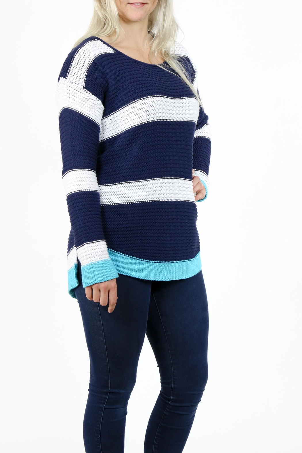 Pure Knits Pullover Sweater - Front Full Image