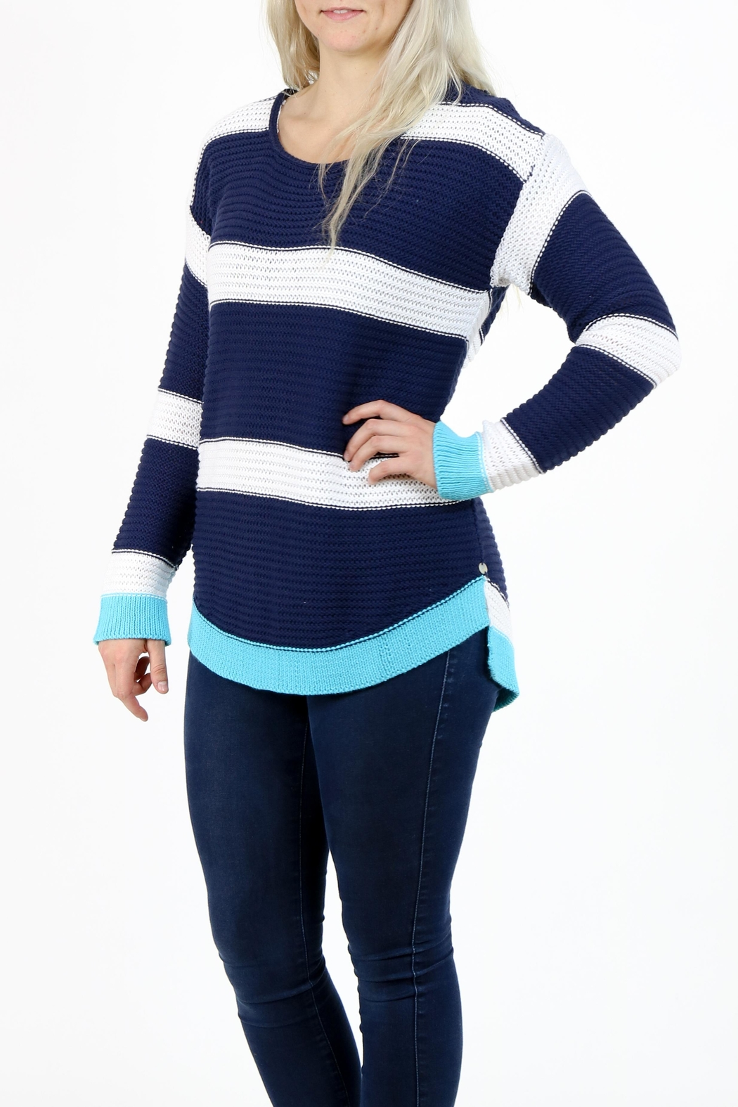 Pure Knits Pullover Sweater - Back Cropped Image