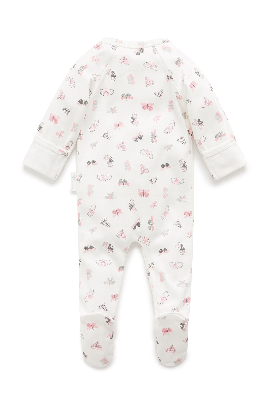 Purebaby Butterfly Growsuit - Front Full Image