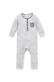 Purebaby Cloudy Night Growsuit - Front cropped