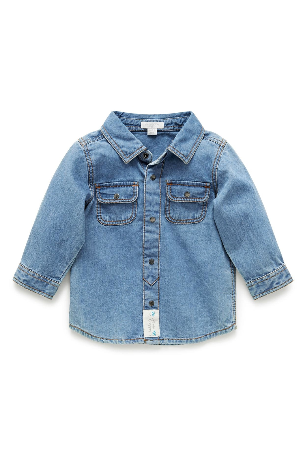 Purebaby Denim Shirt - Front Cropped Image