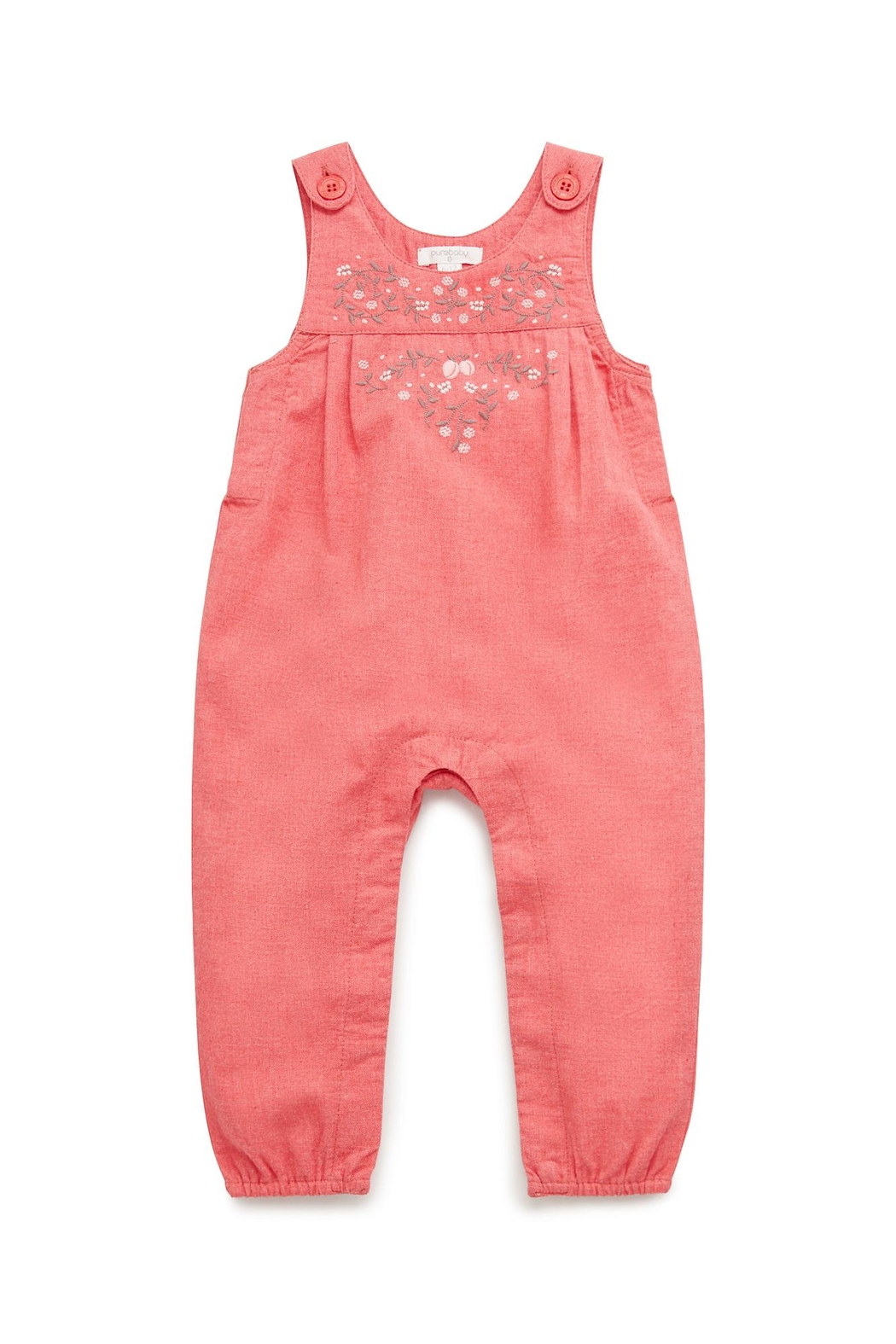 Purebaby Nectarine Overalls - Front Cropped Image