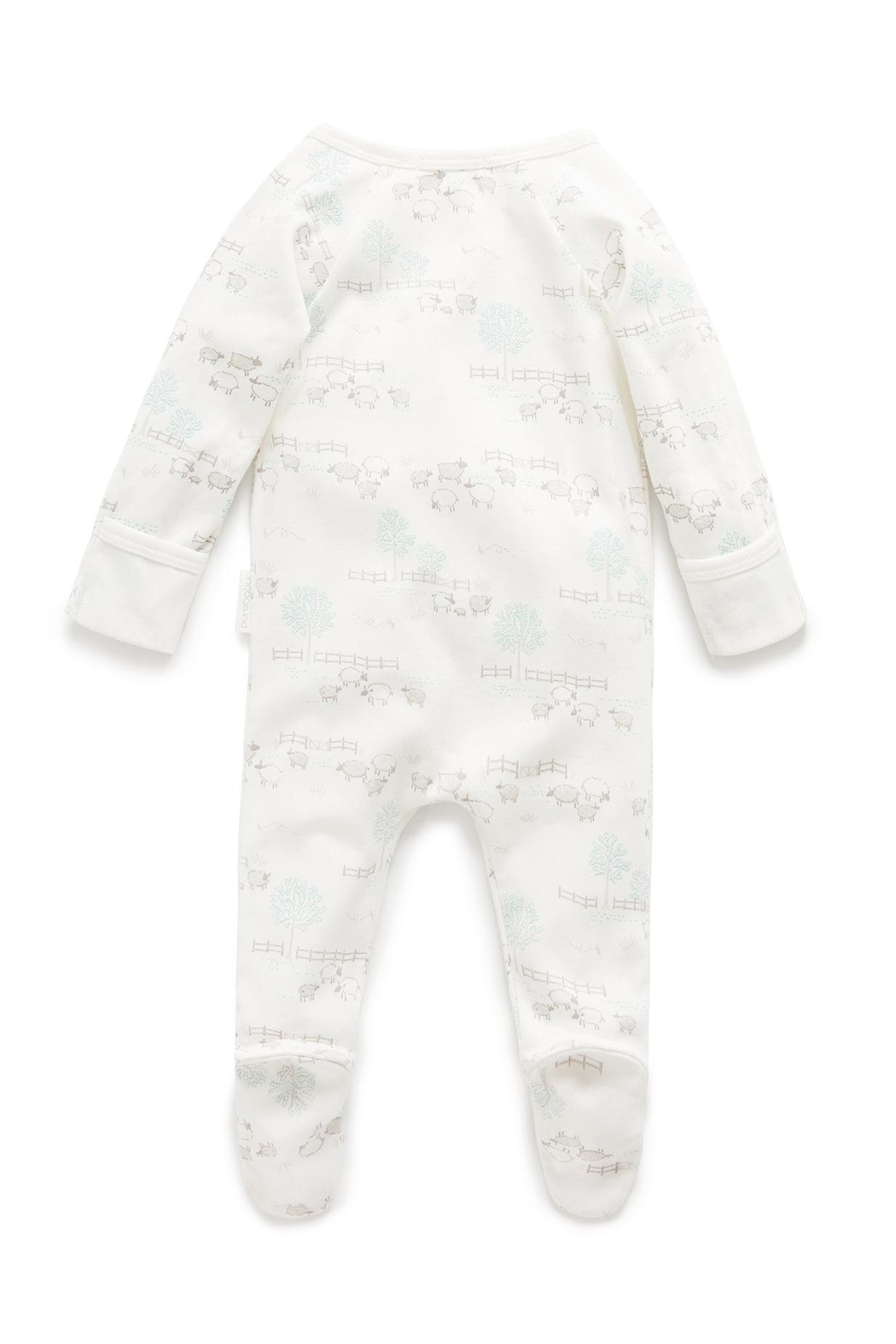 Purebaby Zip Growsuit - Front Full Image
