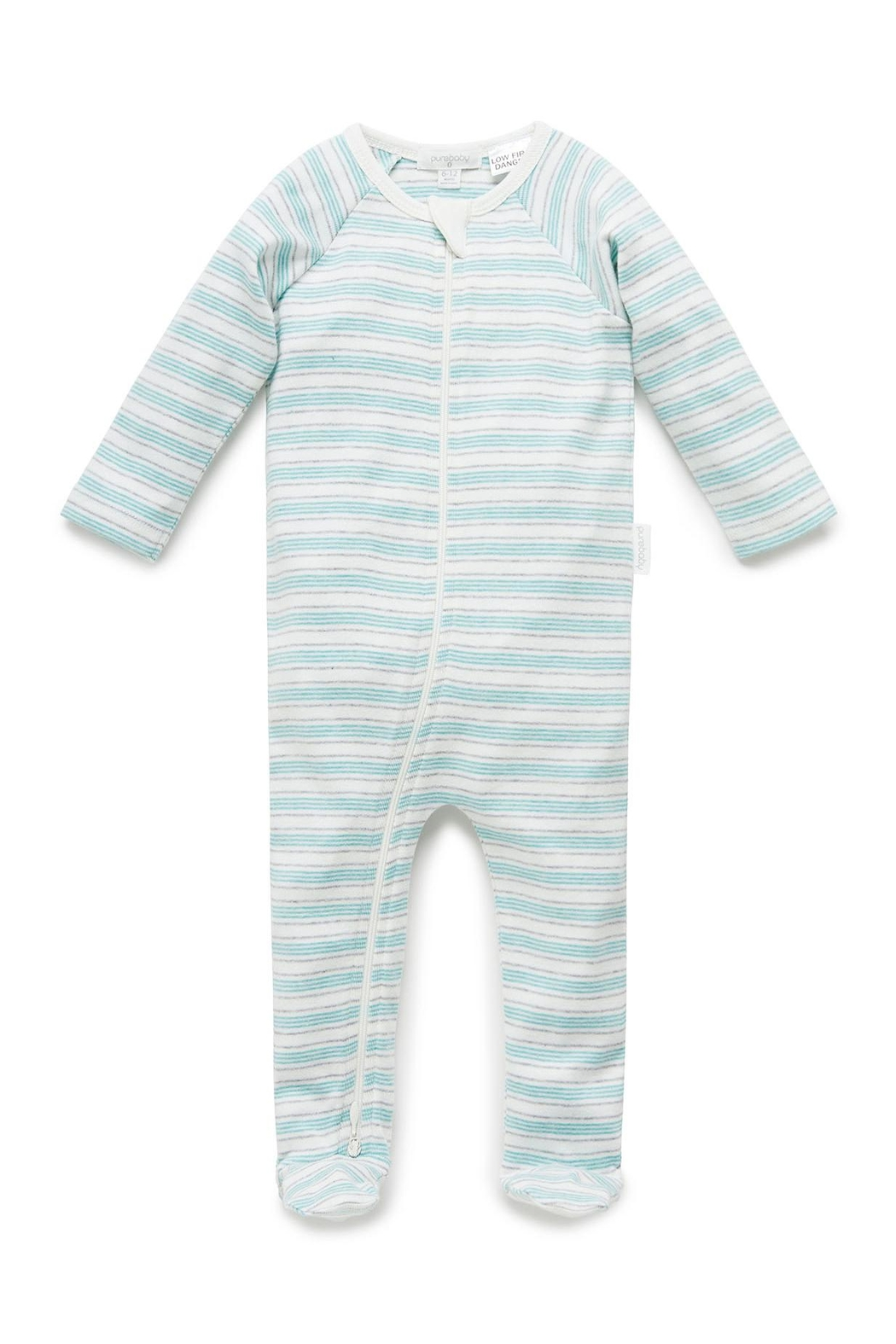 Purebaby Zip Growsuit - Front Cropped Image