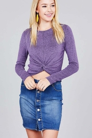 Active Basic Purp Twisted Top - Product Mini Image