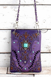 The Boutique Ooh Lala Purple Cross Body Bag - Front cropped