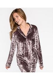 PJ Salvage Purple Crushed Velvet - Front full body
