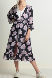 ALB Anchorage Purple Floral Kimono - Product Mini Image