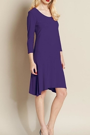 Clara Sunwoo Purple Flounce Dress - Product Mini Image