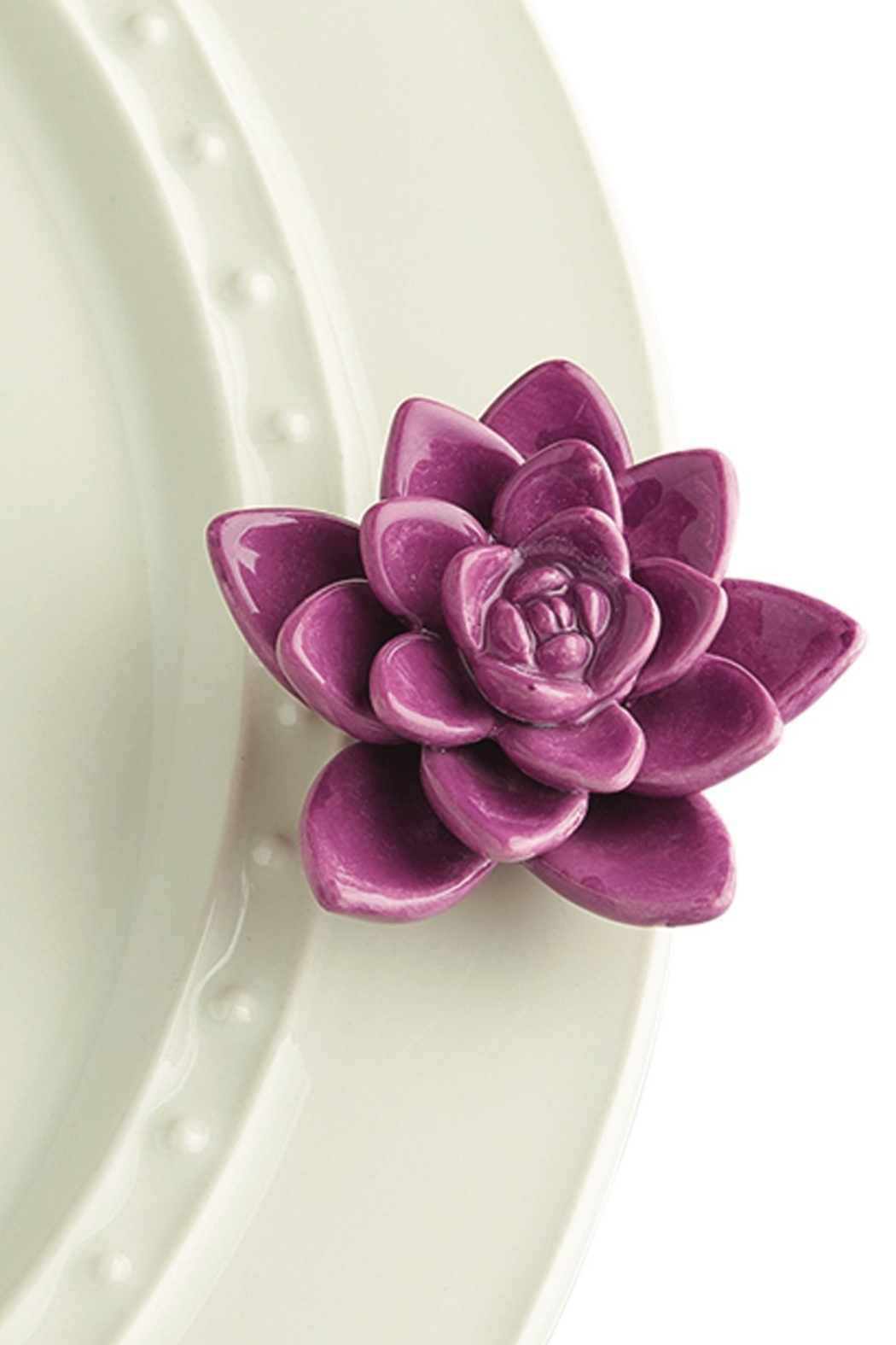 Nora Fleming Purple Flower Mini. - Front Cropped Image