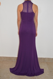 the clothing company Purple Formal Dress - Front full body