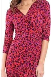 Joseph Ribkoff  Purple & Fuschia crossover dress - Side cropped