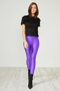 Urban Touch Purple Glitter Leggings - Product List Image