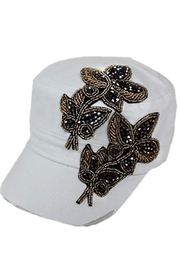 Nadya's Closet Purple Leaves Rhinestone-Cap - Product Mini Image