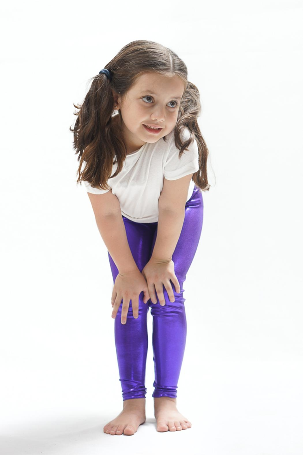 PPoT Kids Purple Leggings - Front Cropped Image