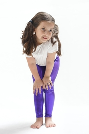 PPoT Kids Purple Leggings - Front cropped