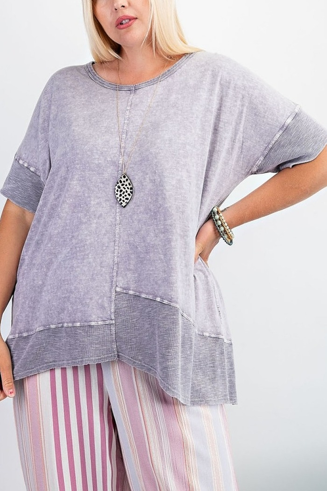 Easel  Purple Mineral Tunic - Front Full Image