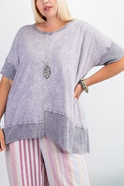Easel  Purple Mineral Tunic - Front full body