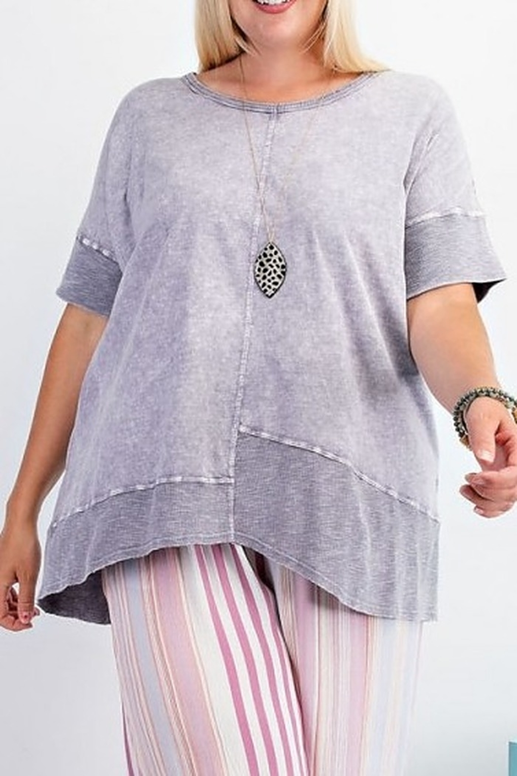 Easel  Purple Mineral Tunic - Main Image