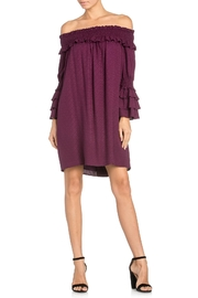 Miss Me Purple Off-Shoulder Dress - Product Mini Image