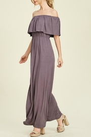 Staccato Purple Off-The-Shoulder Maxi - Front full body