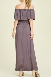Staccato Purple Off-The-Shoulder Maxi - Back cropped