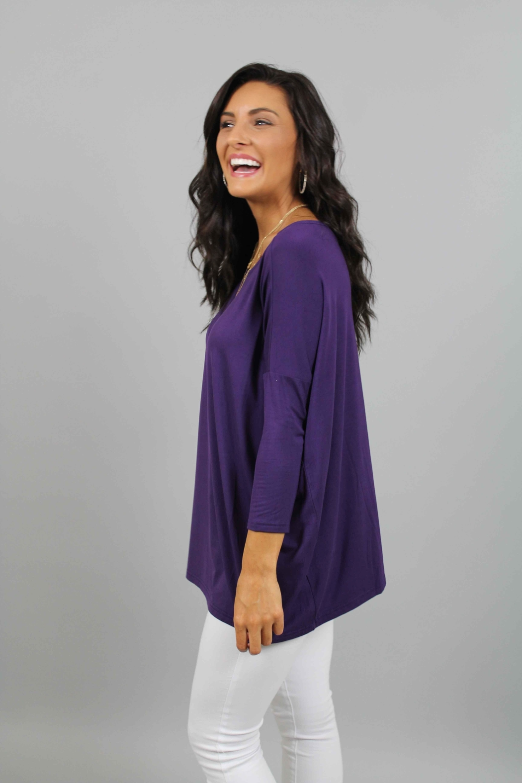 Piko  Purple Top - Front Full Image