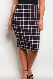 Wholesale Fashion Square Purple Plaid Pencil-Skirt - Product Mini Image