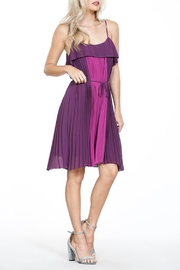 The Vintage Valet Purple Pleated Dress - Product Mini Image