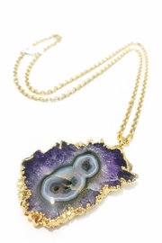 Slate Gray Gallery Purple Quartz Necklace - Front cropped