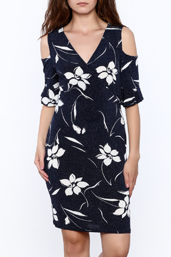 Shoptiques Product: Blue Floral Sheath Dress
